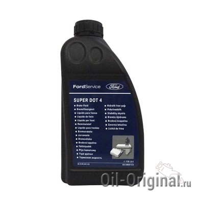 Тормозная жидкость FORD Super DOT-4 (1л)