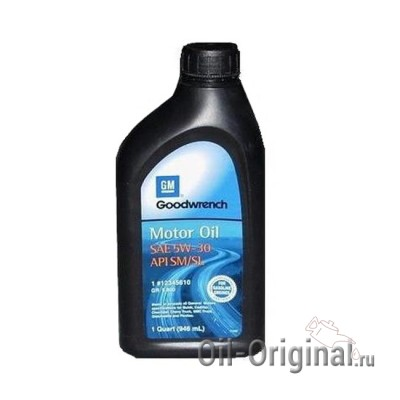 Моторное масло GM Goodwrench 5W-30 SM/SL (0,946л)
