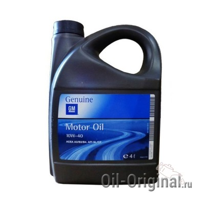 Моторное масло GM Motor Oil Semi Synthetic 10W-40 SL/CF (4л)