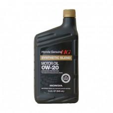 Моторное масло HONDA SYNTHETIC BLEND Motor Oil 0W-20 SN (0,946л)