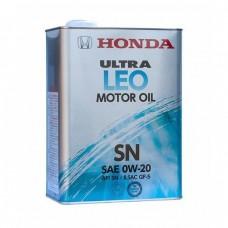 Моторное масло HONDA Ultra LEO Motor Oil 0W-20 SN (4л)