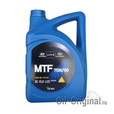 Трансмиссионное масло для МКПП Hyundai MTF 75W-90 GL-4 (6л)