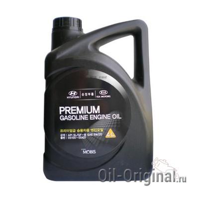 Моторное масло Hyundai Premium Gasoline 5W20 SL (4л)