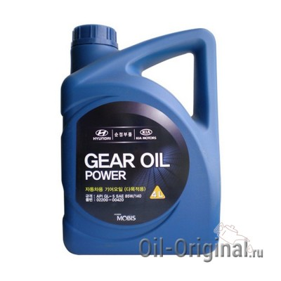 Трансмиссионное масло Hyundai Gear Oil Power 85W140 GL-5 (4л)