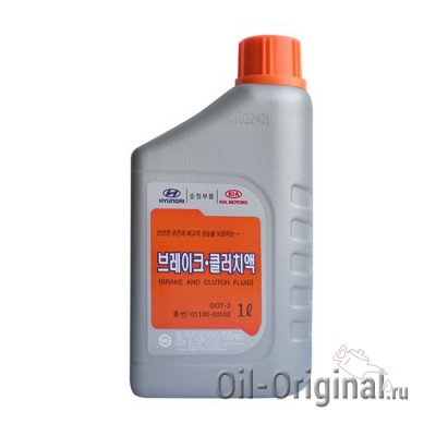 Тормозная жидкость Hyundai Brake Fluid DOT-3 (1л)