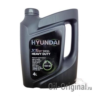 Моторное мало HYUNDAI XTeer Diesel Heavy Duty 15W-40 (4л)