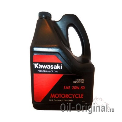 Моторное масло KAWASAKI Motocycle 4-Stroke Engine Oil 20W-50 (3,785л)