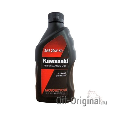 Моторное масло KAWASAKI Motocycle 4-Stroke Engine Oil 20W-50 (0,946л)