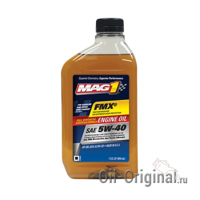 Моторное масло MAG1 SAE 5W-40 Full synthetic European (0,946л)