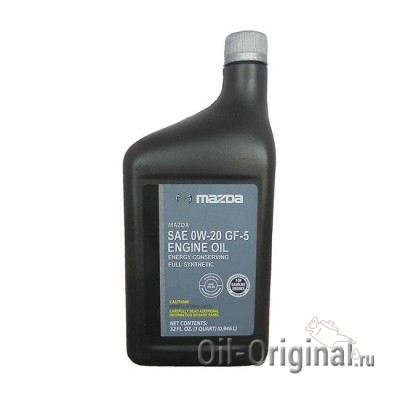 Моторное масло MAZDA Engine Oil 0W-20 SN (0,946л)
