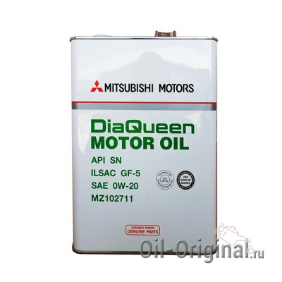 Моторное масло MITSUBISHI Dia Queen Motor Oil 0W-20 SN (4л)