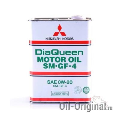 Моторное масло MITSUBISHI DiaQueen 0W20 SM/GF-4 (4л)