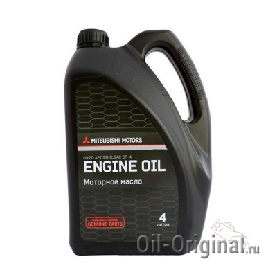 Моторное масло MITSUBISHI Motor Oil 0W-20 SM (4л)
