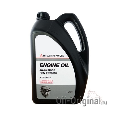Моторное масло MITSUBISHI Engine Oil Fully Synthetic 5W-40 SM/CF (4л)