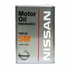 Моторное масло NISSAN GTR Endurance 10W-50 SM (4л)