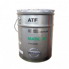 Жидкость для АКПП NISSAN ATF Matic Fluid D (20л)