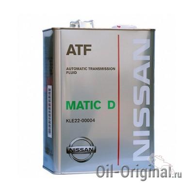 Жидкость для АКПП NISSAN ATF Matic Fluid D (4л)