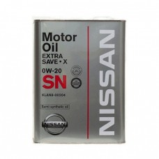 Моторное масло NISSAN Extra Save X 0W-20 SN (4л)