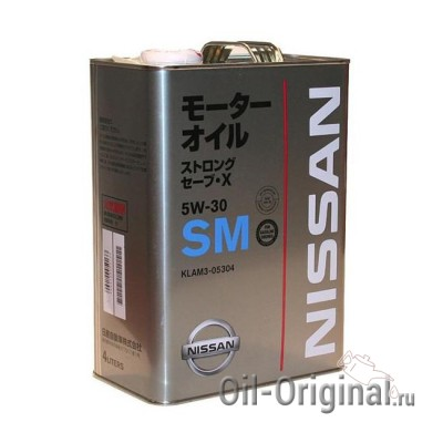 Моторное масло NISSAN Strong Save X 5W-30 SM (4л)