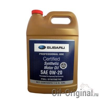 Моторное масло SUBARU Synthetic 0W-20 (3,780л)