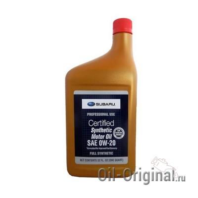 Моторное масло SUBARU Synthetic 0W-20 (0,946л)