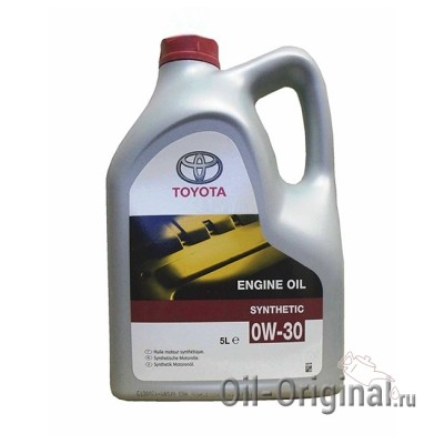 Моторное масло TOYOTA Engine Oil Synthetic 0W-30 SL/CF (5л)