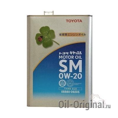 Моторное масло TOYOTA Motor Oil 0W20 SM (4л)