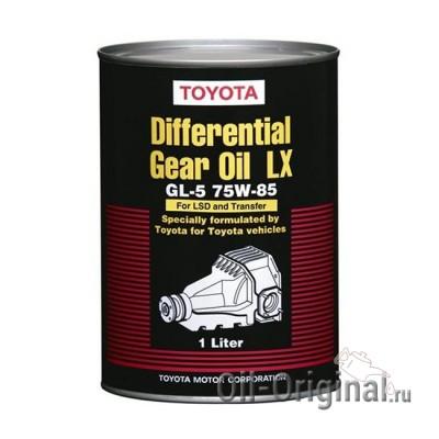 Трансмиссионное масло TOYOTA Differential Gear Oill без LSD SAE 75W-85 GL-5 (1л)