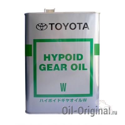 Трансмиссионное масло TOYOTA Hypoid Gear Oil W 75W80 GL-4 (4л)