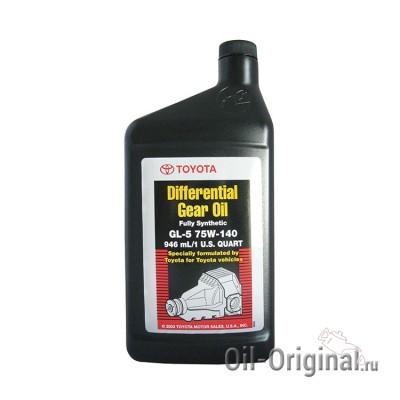 Трансмиссионное масло TOYOTA Differential Gear Oil Full Synthetic GL-5 75W-140 (0,946л)