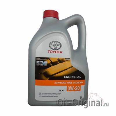 Моторное масло TOYOTA Engine Oil Advanced Fuel Economy 0W-20 SN (5л)