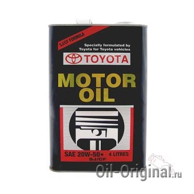 Моторное масло TOYOTA Motor Oil 20W-50 SJ/CF (4л)