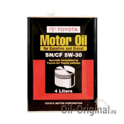 Моторное масло TOYOTA Motor Oil 5W-30 SN/CF (4л)