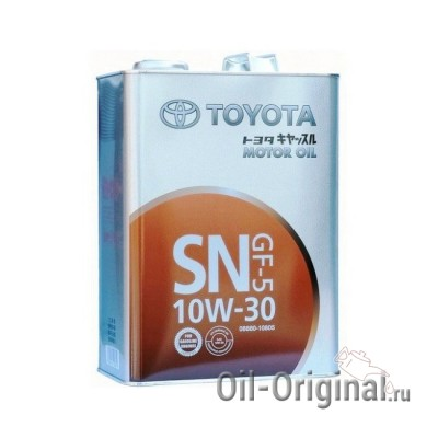 Моторное масло TOYOTA Motor Oil 10W-30 SN (4л)