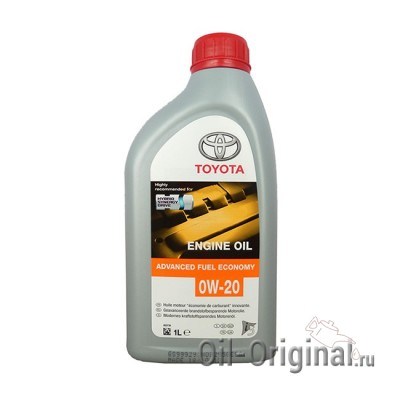 Моторное масло TOYOTA Engine Oil Advanced Fuel Economy 0W-20 SN (1л)