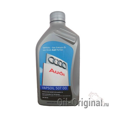 Моторное масло VAPSOIL Audi 507 00 5W-30 Longlife 3 (1л)