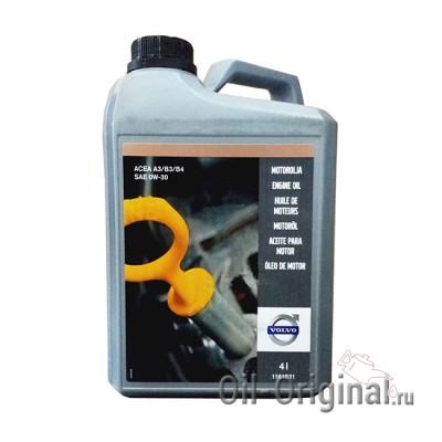 Моторное масло VOLVO Engine Oil 0W-30 (4л)